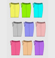 design template shorts color bright vector image
