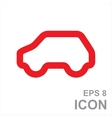 Eco Car Logo Template Design vector image