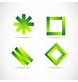 Green logo elements icon set vector image