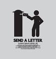 Man Sending A Letter Graphic Symbol vector image