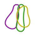 mardi gras beads symbols vector image