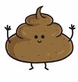 Poop Cute Cartoon vector image