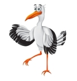 Stork funny cartoon character vector image