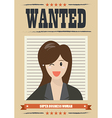 Wanted business woman vector image