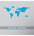 world triangular blue map vector image
