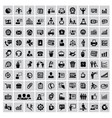100 business web icons vector image