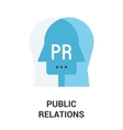 public relations icon vector image