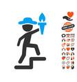 gentleman leader icon with lovely bonus vector image