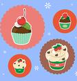 christmas cup cake vector image