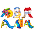 Set of colourful slides vector image