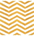 Gold textured seamless zigzag pattern vector image
