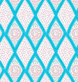 Painted blue marker diamonds and dots vector image vector image
