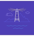 Lighthouse Line Style Design vector image