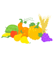 harvesting composition vector image vector image