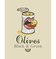 black and green olives vector image vector image