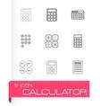 black calculator icon set vector image