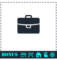 Briefcase icon flat vector image