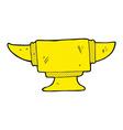 comic cartoon blacksmith anvil vector image