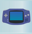 game console with minimal button and screen vector image