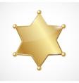 golden sheriff badge star blank vector image