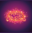 merry christmas colorful poster with magic vector image