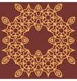 Print inspired by oriental persian carpet vector image