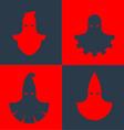 Set of executioner masks vector image