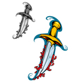 sword with blood vector image