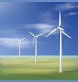three wind turbines vector image