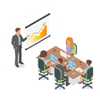 Isometric 3d of business presentation or meeting vector image