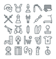 Sports Cool Icons 4 vector image