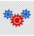 Transmission Wheels Rotation Icon vector image
