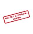 United Kingdom Leeds Rubber Stamp vector image
