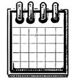 Organizer or calendar vector image vector image