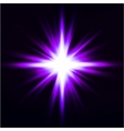 Light flare purple effect vector image vector image