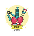colorful poster of sport lifestyle of boxing vector image