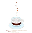 A Cup of Vienna Coffee with Whipped Cream vector image
