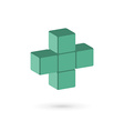 Medical cube logo icon design template with cross vector image
