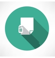 Recycle and paper icon vector image