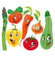 Vegetable family vector image