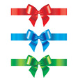 bow and ribbon set of design vector image vector image
