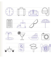 trip and tourism icons vector image vector image