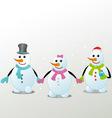 Three snowman vector image