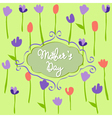 Mothers Day floral pattern with tulips vector image vector image