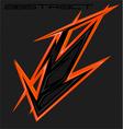 abstract sharp element motocross mx wrap vector image
