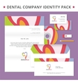 Abstract dentist tooth identity pack concept Logo vector image