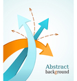 Business background with color arrows vector image