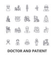 doctor and patient cabinet medical hospital vector image
