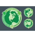 Earth day green badge vector image