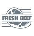 fresh beef logo simple style vector image